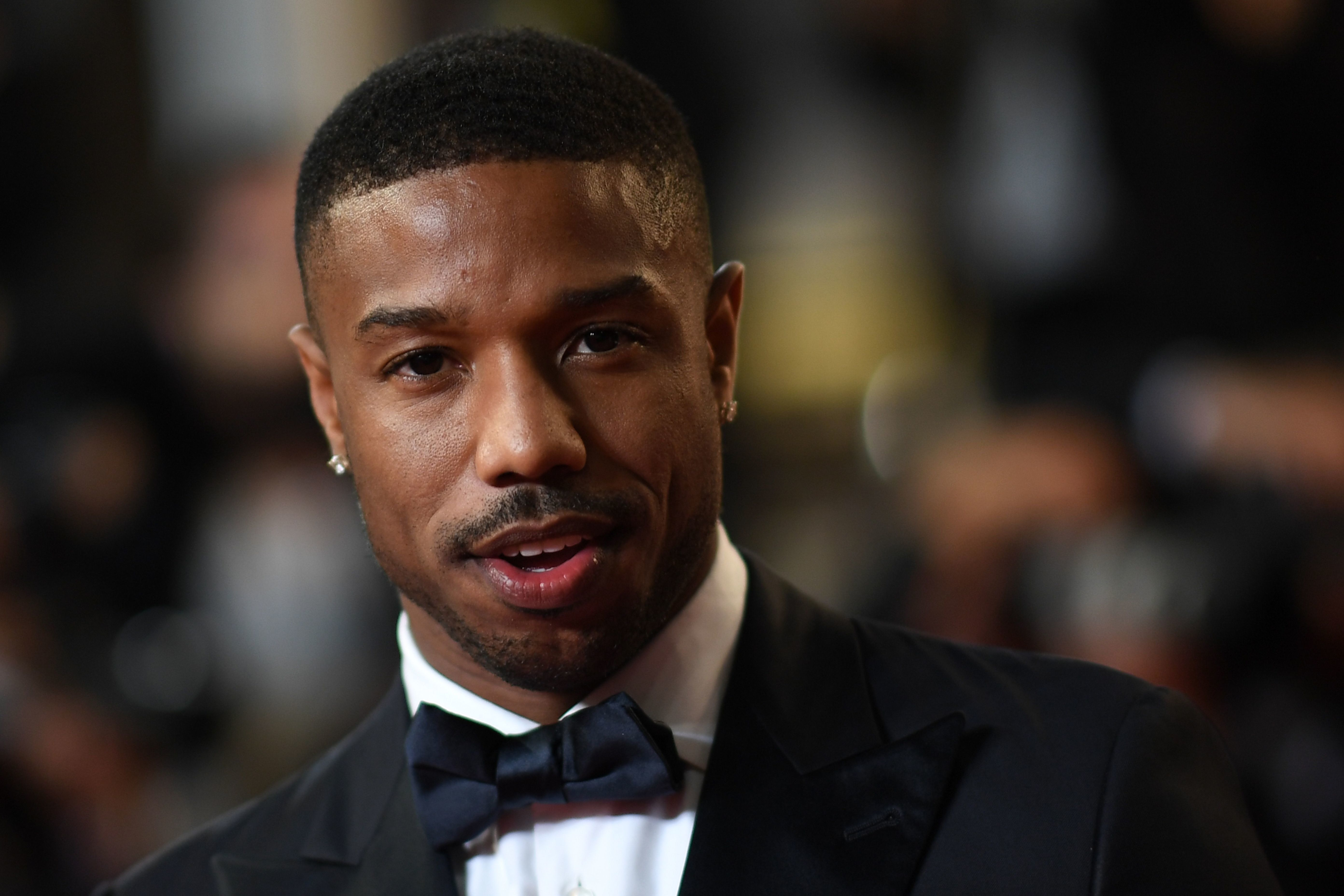 US actor Michael B. Jordan poses as he arrives on May 12, 2018 for the screening of the film 'Farenheit 451' at the 71st edition of the Cannes Film Festival in Cannes, southern France. (Photo by LOIC VENANCE / AFP)        (Photo credit should read LOIC VENANCE/AFP/Getty Images)