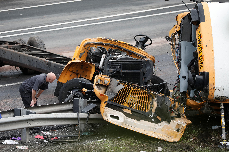 The scene at Thursday's crash.