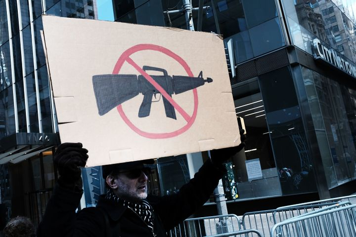Banning assault-style weapons, which this protester may well support, is not one of the areas in which gun owners a
