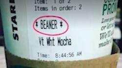 스타벅스 바리스타가 인종차별 문구를 컵에 써넣는 사건이 또