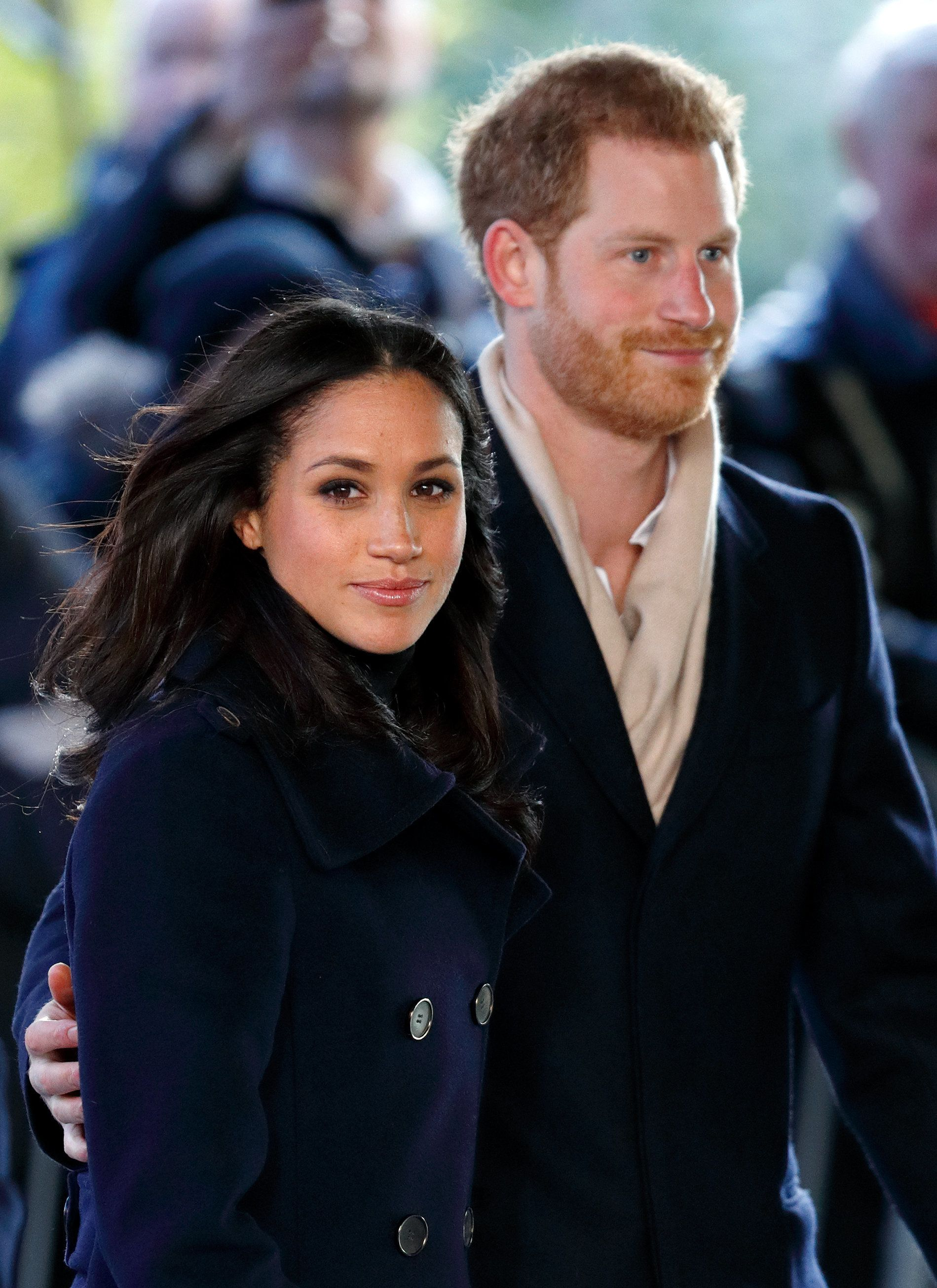NOTTINGHAM, UNITED KINGDOM - DECEMBER 01: (EMBARGOED FOR PUBLICATION IN UK NEWSPAPERS UNTIL 24 HOURS AFTER CREATE DATE AND TIME) Meghan Markle and Prince Harry attend a Terrence Higgins Trust World AIDS Day charity fair at Nottingham Contemporary on December 1, 2017 in Nottingham, England. Prince Harry and Meghan Markle announced their engagement on Monday 27th November 2017 and will marry at St George's Chapel, Windsor in May 2018. (Photo by Max Mumby/Indigo/Getty Images)