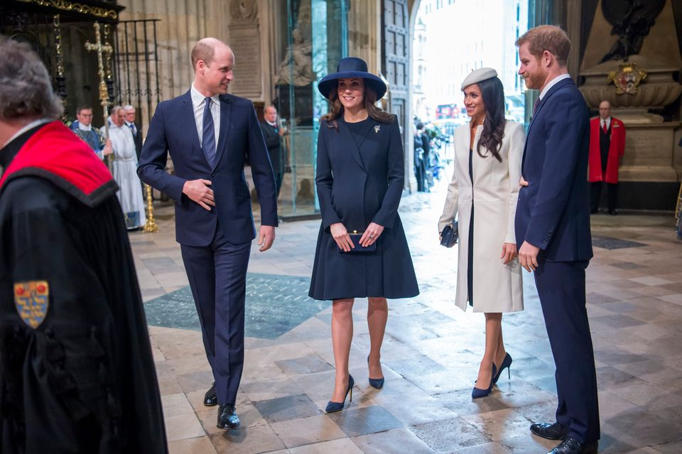 The couple attending the Commonwealth Service at Westminster Abbey with the Duke and Duchess of
