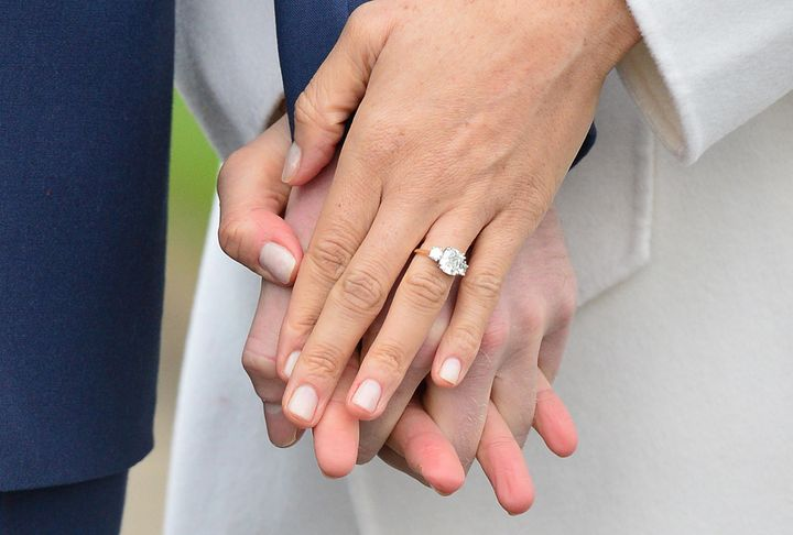 Markle's engagement ring was made using two diamonds from Diana, Princess of Wales' personal collection and a central diamond sourced from Botswana