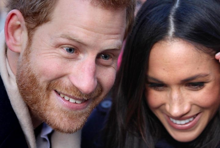 The Prince and his bride-to-be at their first official engagement together at a Terrence Higgins Trust World AIDS Day charity fair