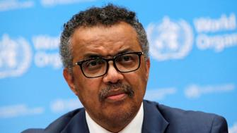 Director-General of the World Health Organization (WHO) Tedros Adhanom Ghebreyesus attends a news conference at their headquarters in Geneva, Switzerland, May 14, 2018.  REUTERS/Denis Balibouse