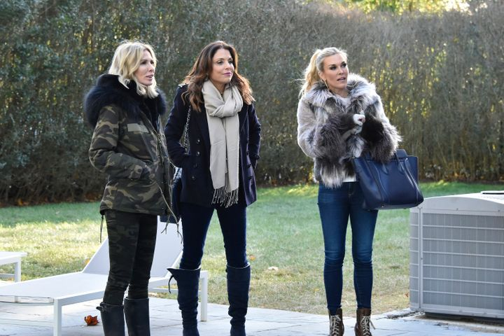 "Carole Radziwill, Bethenny Frankel and Tinsley Mortimer on ""The Real Housewives of New York City."""