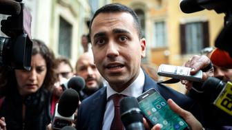 ROME, ITALY - MAY 16: Luigi Di Maio, Leader of 5-Star Movement (M5S) speaks to the press during a new day of meetings for the formation of the new government on May 16, 2018 in Rome, Italy. Today, 5-Star Movement (M5S) leader Luigi Di Maio said that he and Lega leader Matteo Salvini were willing to be outside the government team if this were necessary to make a M5S-Lega executive possible. (Photo by Antonio Masiello/Getty Images)