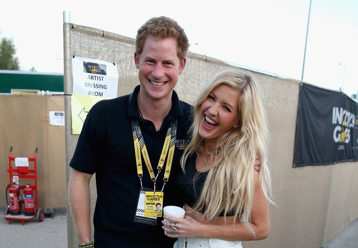 Prince Harry with Ellie Goulding at the Invictus Games closing ceremony in London on Sept. 14, 2014.