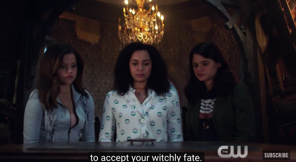 The Charmed Ones appear in a shot from the