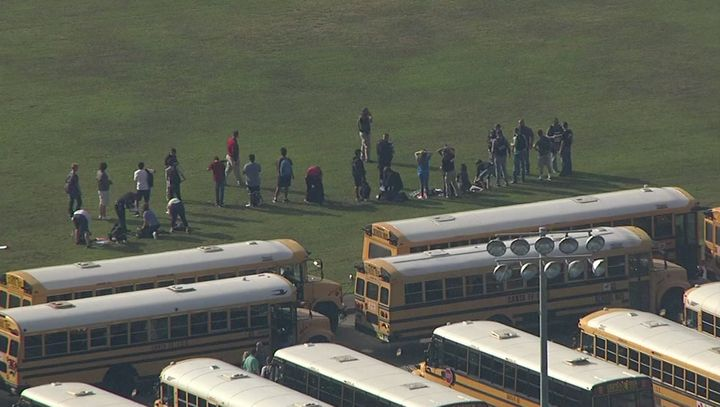 Students were evacuated from Santa Fe High School Friday morning. The high school serves about 1,500 students, acco
