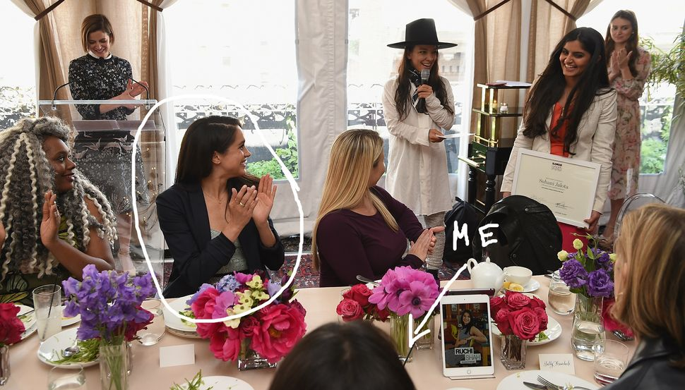 Just me and future royal Meghan Markle living our best lives at a Glamour luncheon. No big deal!!!!