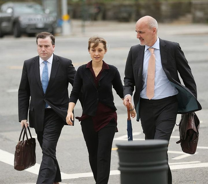 Allison Mack arrives at the United States Eastern District Court for a hearing in relation to the sex-trafficking charges fil