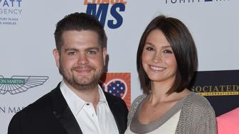 CENTURY CITY, CA - APRIL 24:  TV personality Jack Osbourne and wife Lisa Stelly arrive at the 22nd Annual Race To Erase MS at the Hyatt Regency Century Plaza on April 24, 2015 in Century City, California.  (Photo by Axelle/Bauer-Griffin/FilmMagic)