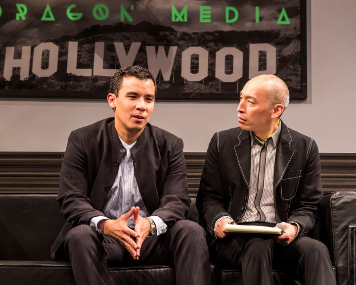 """Conrad Ricamora (left) and Francis Jue in star in """"Soft Power,"""" now playing in Los Angeles."""
