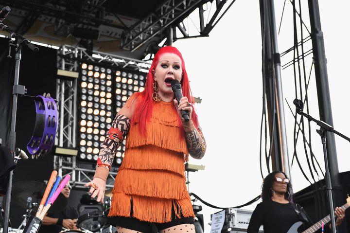 Kate Pierson performs in 2017 in San Pedro, California.
