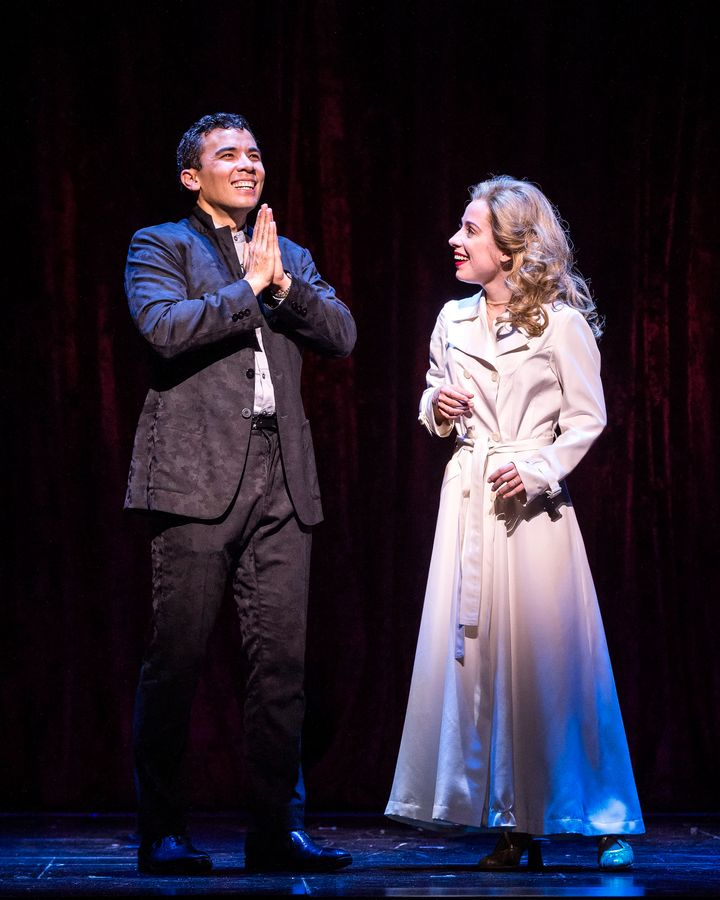 """The """"play with a musical"""" sees Chinese film producerXue Xing (Conrad Ricamora) enamored with Hillary Clinton (Alyse Ala"""