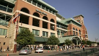 The view outside prior to Game 4 of the World Series between the Chicago White Sox and Houston Astros at Minute Maid Park in Houston, Texas on October 26, 2006. (Photo by G. N. Lowrance/Getty Images)