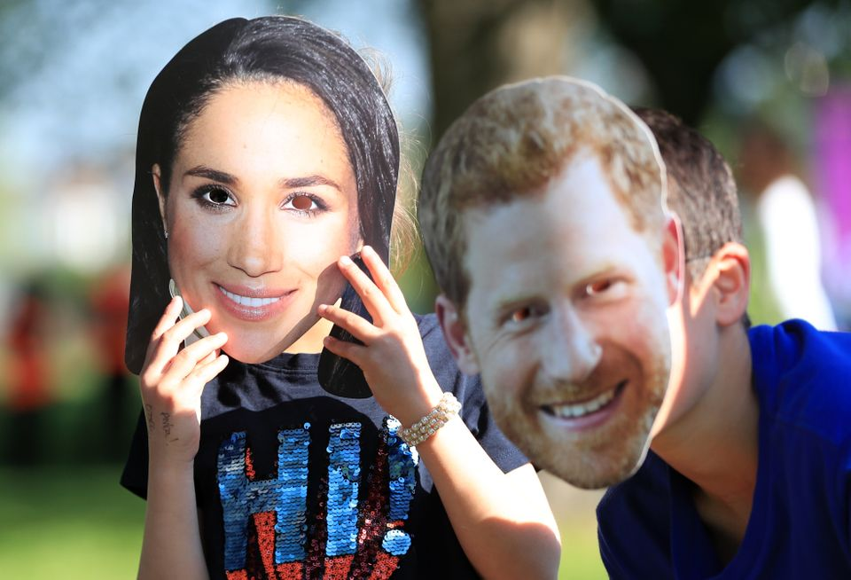 Looks familiar... royal fans don Meghan and Harry face