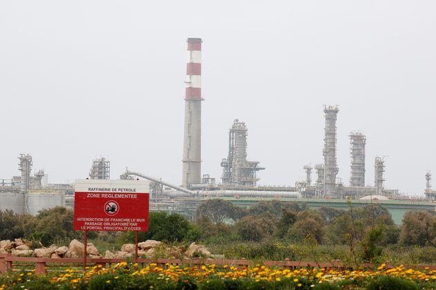 Vue générale sur la raffinerie Samir à Mohammedia, le 28 avril