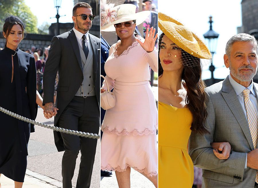 The Beckhams And Clooneys Rub Shoulders With Oprah At Star-Studded Royal Wedding