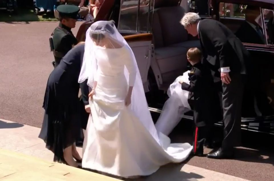 Meghan Markle arriving at the