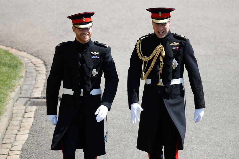 Prince Harry (left) and the Duke of