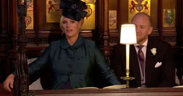Zara Phillips looked somewhat perplexed at the
