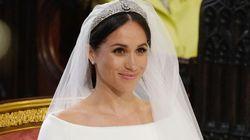 Meghan Markle sublime dans sa robe de mariée tant