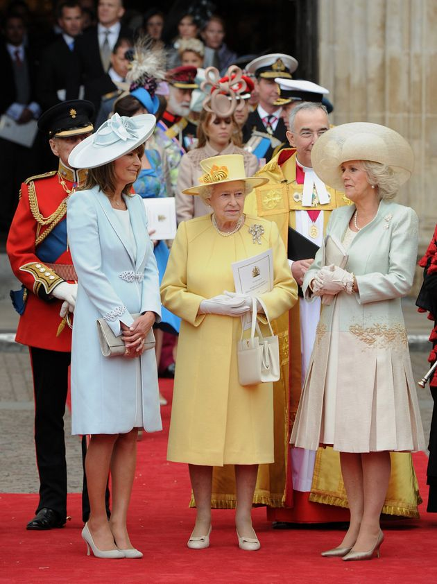 The Queen Out-Queened Herself By Colour Blocking In A Lime Royal Wedding