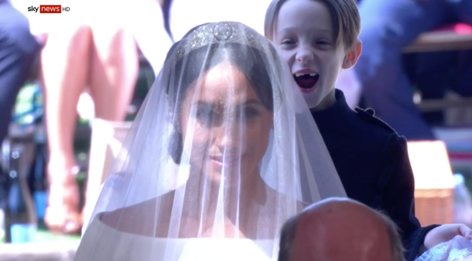 A 7-year-old pageboy at Meghan and Harry's wedding has stolen viewer's