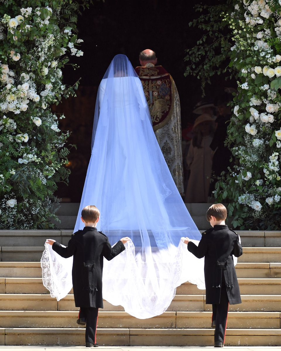 Meghan arriving for the