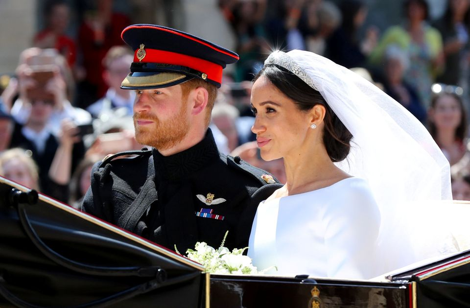 The couple took a tour by horse drawn carriage through Windsor following the