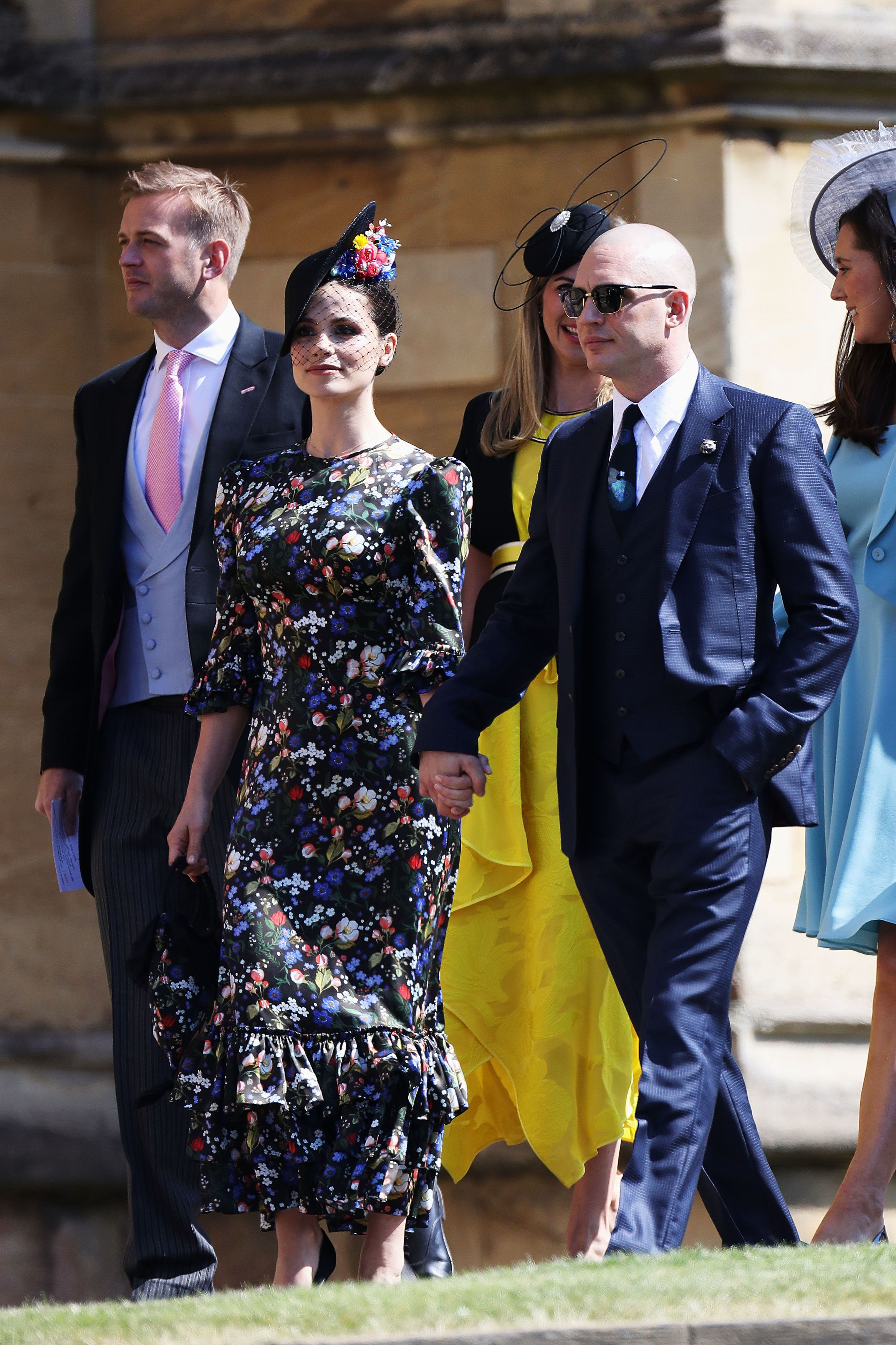 Charlotte Riley and a newly-bald Tom