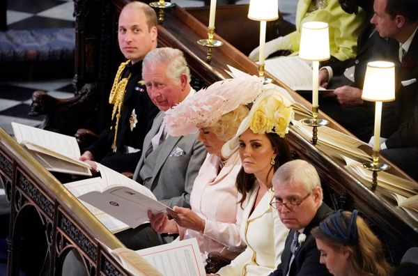 Prince William; Prince Charles; Camilla, Duchess of Cornwall; Catherine, Duchess of Cambridge.
