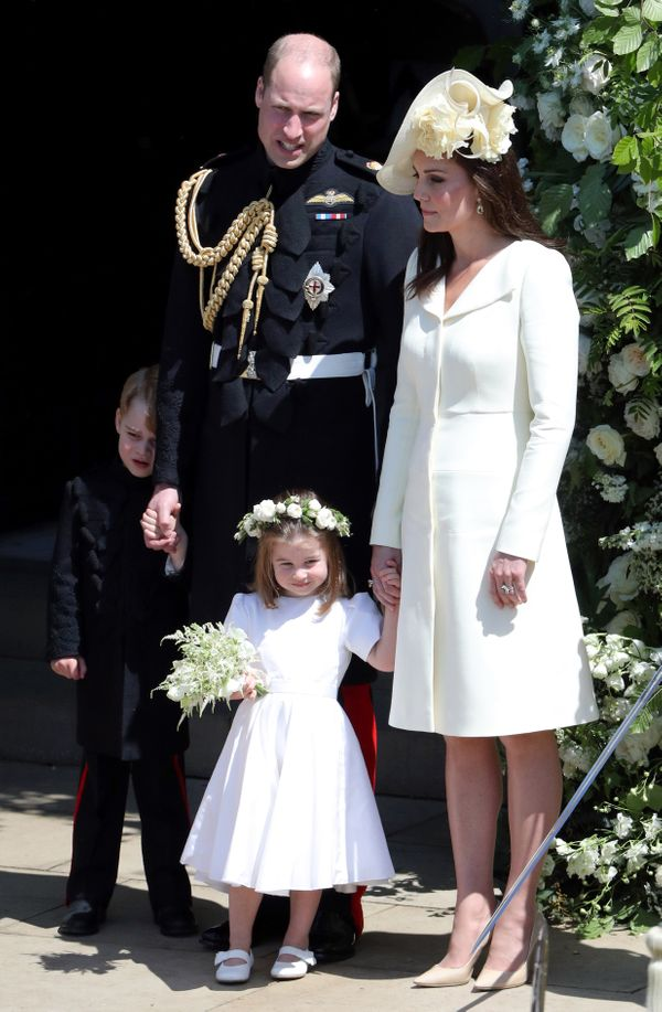 Prince William and the Duchess of Cambridge with their children Prince George and Princess Charlotte.