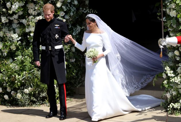Meghan's dress was createdby British designer Clare Waight Keller, the first female Artistic Director...