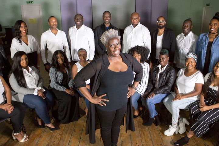 Karen Gibson and the Kingdom Choir performed at the royal wedding on May 19.