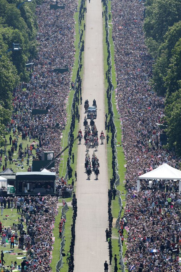 The weather was beautiful for the royal wedding on Saturday.