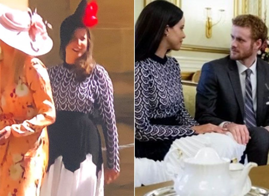 Royal Wedding Guest Wears Same Dress As 'Meghan Markle' In Lifetime