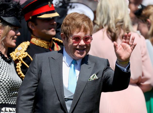 Sir Elton John leaving the royal