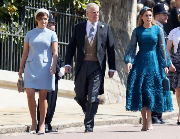 Britain's Prince Andrew, Duke of York, and his daughters Britain's Princess Eugenie of York (left) and Britain's Princess Bea