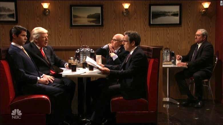 Alec Baldwin's Trump Faces Ominous 'Sopranos' Scenario In 'SNL' Finale