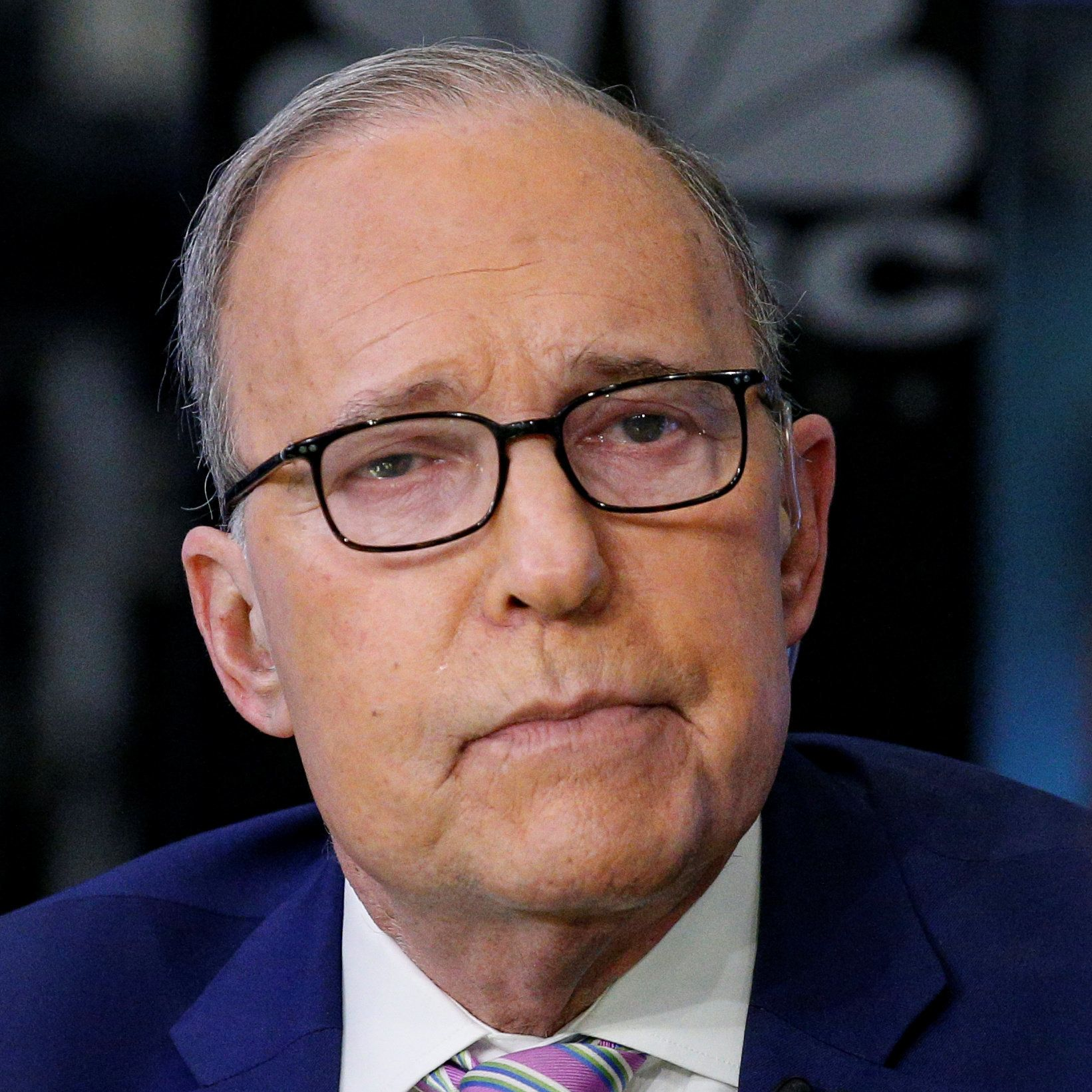 "Economic analyst Lawrence ""Larry"" Kudlow appears on CNBC at the New York Stock Exchange, (NYSE) in New York, U.S., March 7, 2018. REUTERS/Brendan McDermid"