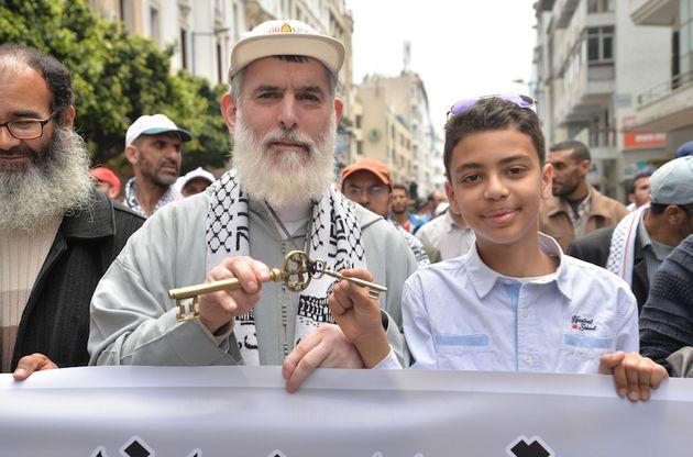 10 photos marquantes de la marche de solidarité avec les Palestiniens à