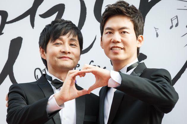 2013년 결혼식을 올린 김조광수 감독과 김승환씨