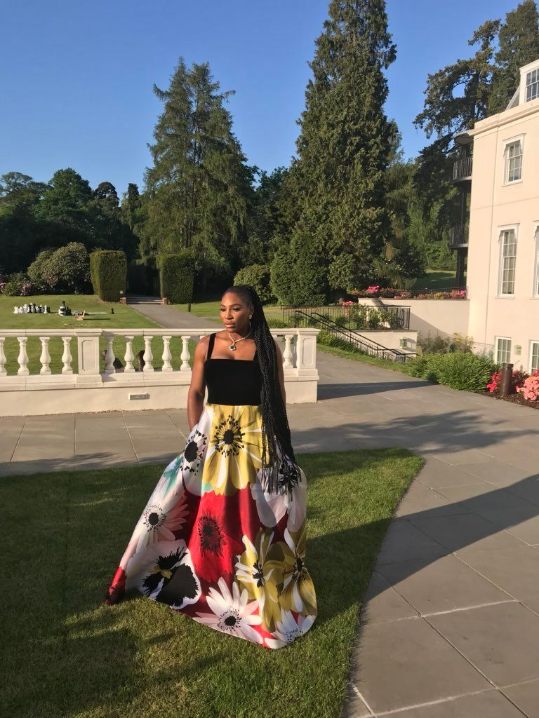 Looks We Love: Serena Williams In Trainers And Evening Gown At The Royal