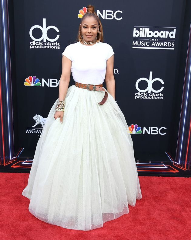 993b1fc20b Looks We Love: Janet Jackson's White Tee And Tulle Skirt At The ...