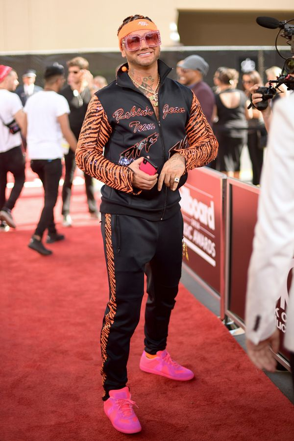 We can always count on rapper Riff Raff to wear something outside the box.