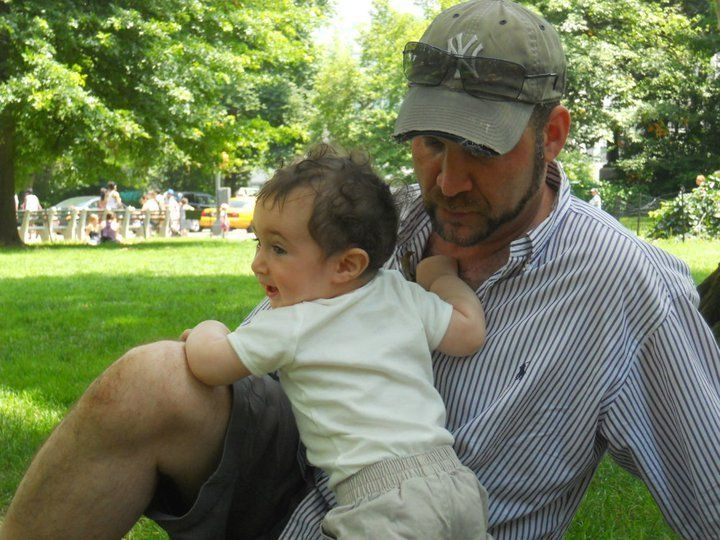 David and Nate in New York City's Central Park in 2011.