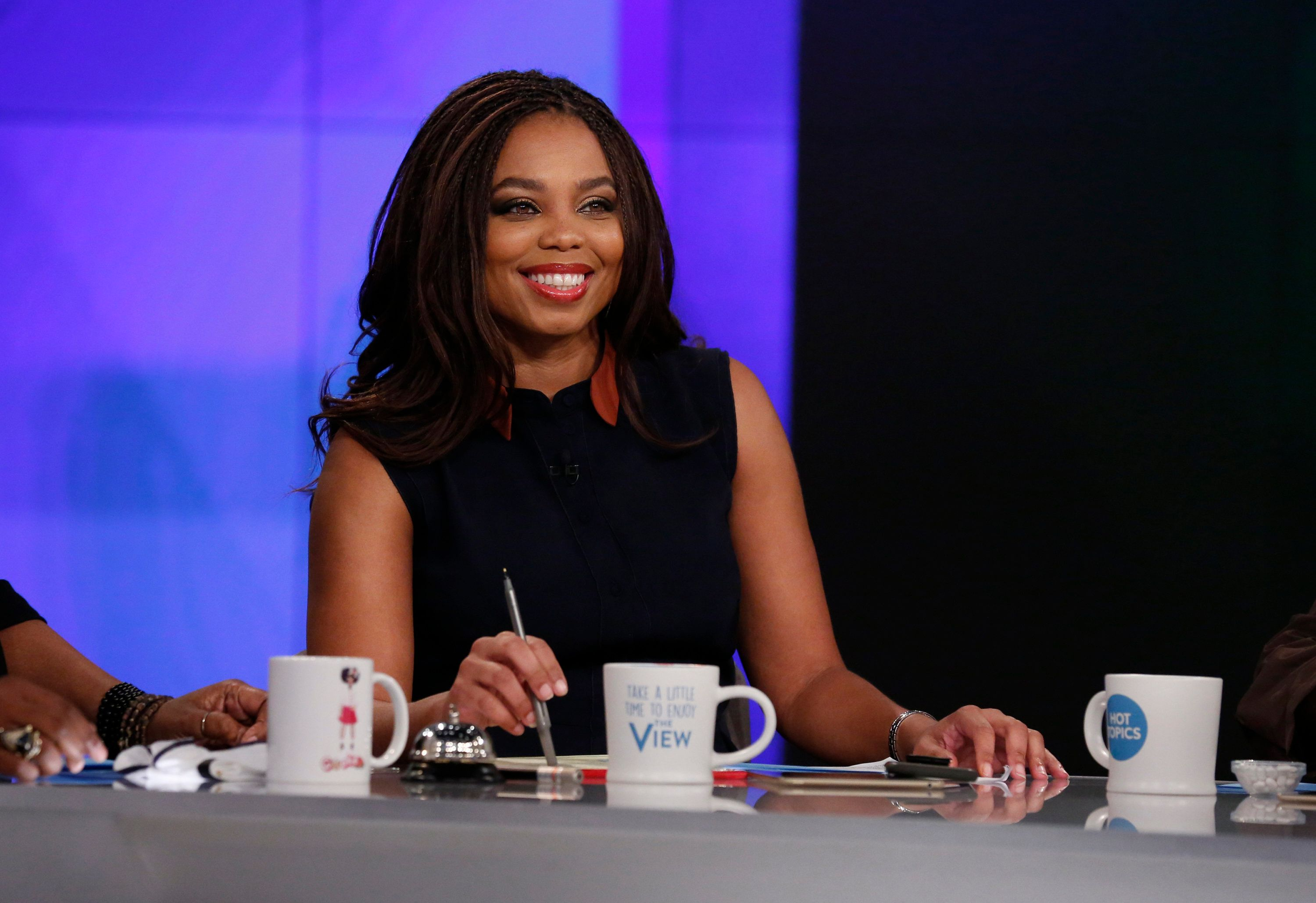 THE VIEW - Jemele Hill is the guest co-host today, Wednesday, 2/21/18 on ABC's 'The View.'    'The View' airs Monday-Friday (11:00 am-12:00 pm, ET) on the ABC Television Network.     (Photo by Heidi Gutman/ABC via Getty Images)  JEMELE HILL